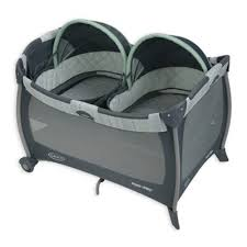 Graco Pack u0027n Play Playard with Twin Bassinets in Mason