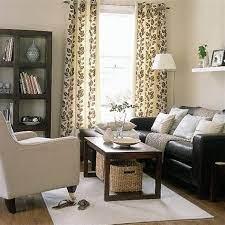 elegant living room with dark brown