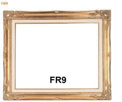 FR9 Antique Gold Picture Frame with Linen Liner