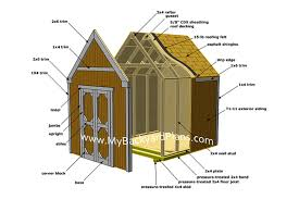gable style free shed plan