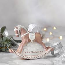 2018 baby s 1st rocking horse pink ornament