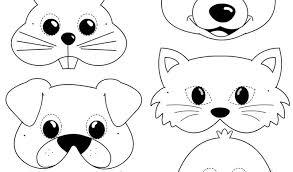 Immagini Da Stampare E Colorare Con Maschere Di Animali Per Bambini