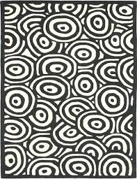 black and white circle area rug pattern i could live with that