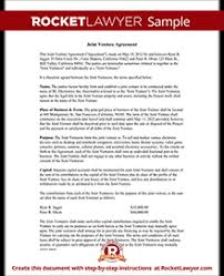 Sample Joint Venture Agreements Joint Venture Agreement Template Joint Venture Contract with Sample 2