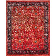 safavieh vintage hamadan orange navy 9 ft x 12 ft area rug
