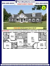 Commodore Homes Designs Geraldine Au215a 3 Bed 2 Bath Ranch Plan 1863 Sf