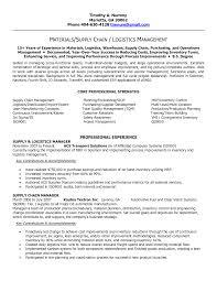 Logistics Executive Resume Objective Sidemcicek Com