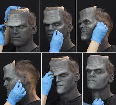frankenstein makeup tutorial step 3