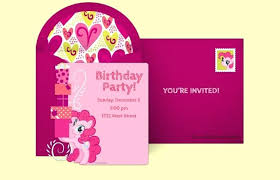 Birthday Invitation Size Large Size Of My Little Pony Blank Birthday Invitations With Card