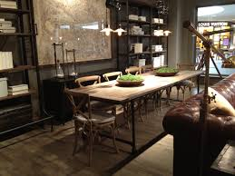 Living Room With Dining Table Restoration Hardware Flatiron Table Dining Room Pinterest