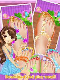 toe nail spa salon beautiful princess s makeover and games dressup nails art polish