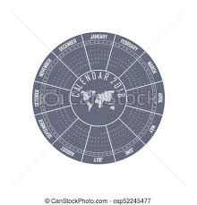 Circle Calendar Template 2018 Calendar Template Circle Calendar Template