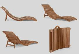 portable indonesian teak wooden patio lounger