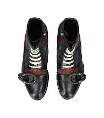 gucci queercore boot. shoes: boots gucci show queercore tartan boot a