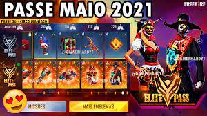 PASSE DE ELITE MAIO 2021 FREE FIRE (COMPLETO) - YouTube
