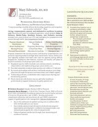 Labor And Delivery Nurse Resume Teencollective