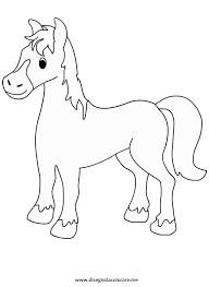 Cavallo Disegno Per Bambini Facile Con Foto Di Animali Da Colorare