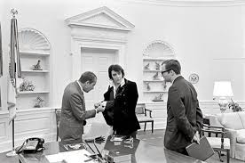 Nixon office President Met Elvis Presley President Richard Nixon Inspecting Elvis Jewelry ollie Atkins Richard Nixon Presidential Library And Museum Smithsonian Magazine When Elvis Met Nixon History Smithsonian