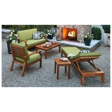 Brooks Island Wood Patio Furniture Collection Smith & Hawken
