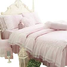 cotton bed skirt lace flouncing duvet