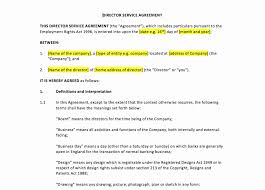 Business Service Agreement Template Simple Service Agreement Awesome Director Service Agreement Template 5