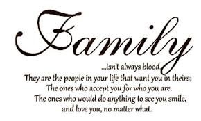 Family Isn T Always Blood Quotes Enchanting Family Isn't Always Blood Wall Decal Saying Home Decor Quotes Vinyl