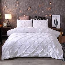 2019 white duvet cover set pinch pleat 2 twin queen king size bedclothes bedding sets luxury home hotel useno filling no sheet from tinaya 44 19 dhgate