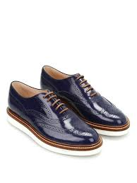 tods womens platform wingtip oxford leather lace brogue shoes light blue size 41 item no w0wm00n50bhhu800