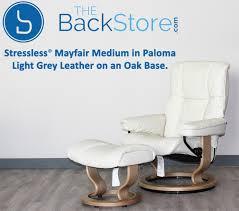 grey leather recliner. Stressless Mayfair Paloma Light Grey Leather Recliner Chair And Ottoman By Ekornes E