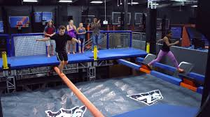 Sky Zone In Memphis Ninja Obstacle Course For Warriors Sky Zone Trampoline Park