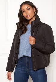 Jacqueline De Yong Size Chart Jacqueline De Yong Erica Short Padded Jacket Black Bubbleroom