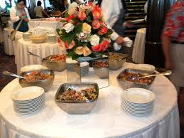 image of round buffet table
