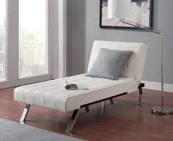 Decorative Living Room Chaise Lounge Chair Covered by White