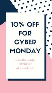 10 Off Coupon Template Dark Blue And Pink Cyber Monday Coupon Your Story