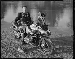Perry Fields on his BMW R1200GS Adventure motorcycle - James Pratt