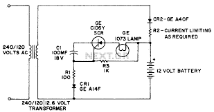 emergency light this simple circuit providers battery operated