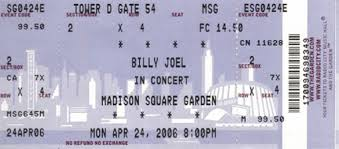 billy joel madison square garden tickets. Determining A Concept Is Excitement Section Of Upgrading Or Even Building Residence, This Also Billy Joel Tickets Madison Square Garden Photo Gallery