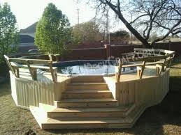 deck pool treated above ground wrap around images of above ground pool decks r23