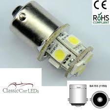 6v electronic indicator flasher relay classic car oe click 2 x 6 volt 8 smd 5050 led bulbs glb205 ba15s 5w positive earth negative earth