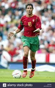 RUI COSTA PORTUGAL & AC Mailand VILLENPARK BIRMINGHAM ENGLAND 7. September  2002 Stockfotografie - Alamy