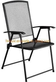 china metal frame black mesh dining