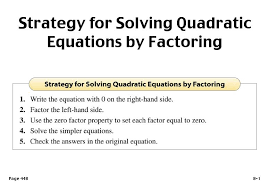 solving quadratic equations by tracy musto