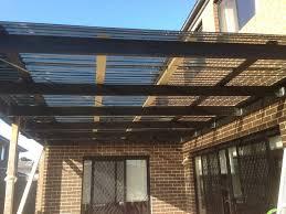 image of polycarbonate roof panels deck