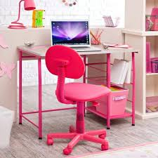 beautiful room completed with pink pc table and pik chairs desk chairs for teens