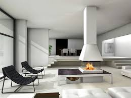 awesome modern fireplace in the middle of the living room