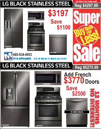 Lg Kitchen Appliance Packages Lg Black Diamond Kitchen Appliance Sale 3197 In Mesa Az