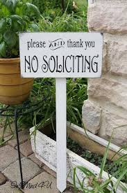no soliciting sign garden sign yard sign solicitation by inmind4u