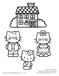 Hello Kitty Grandma And Grandpa Kids Coloring Pages Hello Kitty