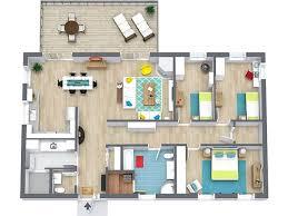 2 Bedroom Floor Plans  RoomSketcherFloor Plans Images