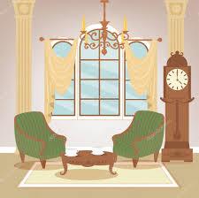 Wohnzimmer Klassisches Interieur Vintage Stil Retro Möbel